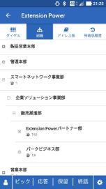 Extension Power モバイル 組織ツリー